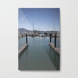 Empty Dock Metal Print