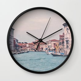The canal Wall Clock