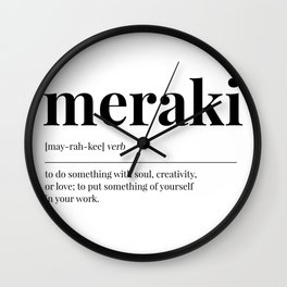 Meraki Wall Clock
