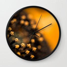 Sunflower Macro Wall Clock