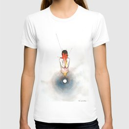 The Exclamation, male nude emotional, NYC artist T-shirt
