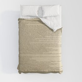 United States Declaration of Independence (Dunlap Broadside Print Copy, 1776) Comforters
