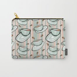 Cups Medley Green Stripes Carry-All Pouch