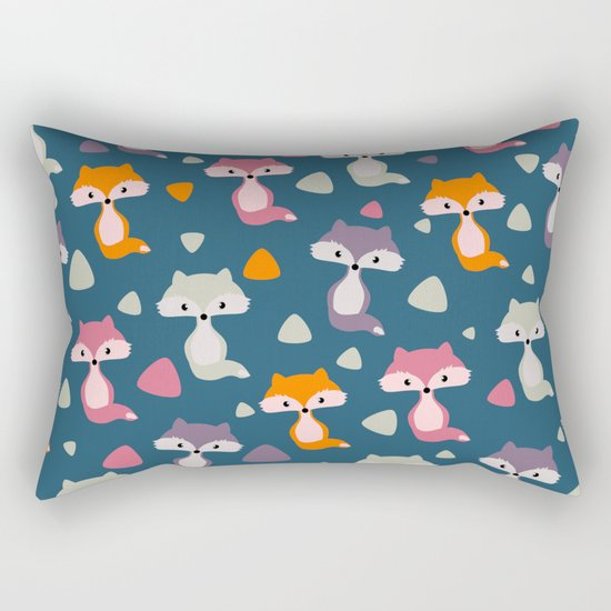 Foxes in many colors Rectangular Pillow