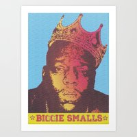 biggie smalls Art Prints featuring Biggie Smalls by RDotA Grapfiks