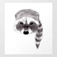 rocket racoon Art Prints featuring Racoon by MichaelJenningsDoodleBoy
