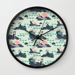 Adventure Shibas Wall Clock