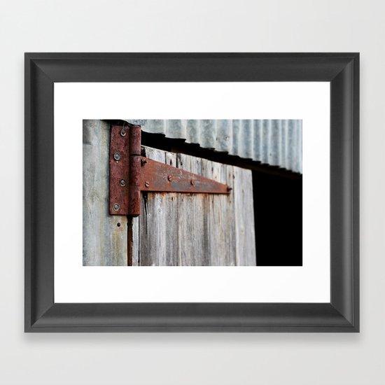 Hinge Framed Art Print