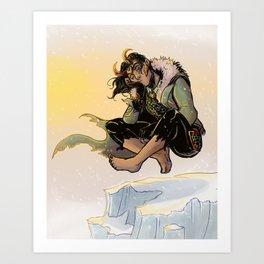 Catnapping Loki Art Print