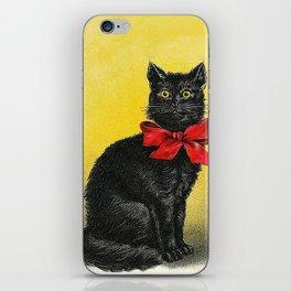 Pretty Black Cat- Vintage Cat iPhone Skin