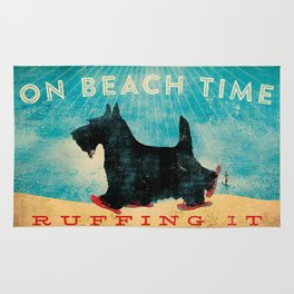 Beach Time Scottie by Stephen Fowler Rug