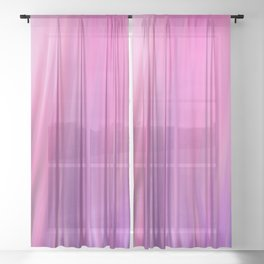 Modern pink violet lilac watercolor brushstrokes pattern Sheer Curtain