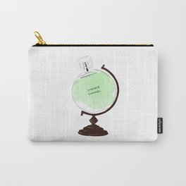 Green Perfume Globus Carry-All Pouch