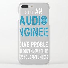 AUDIO ENGINEER Tshirt Clear iPhone Case