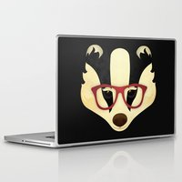 badger Laptop & iPad Skins featuring Hipster Badger by Compassion Collective