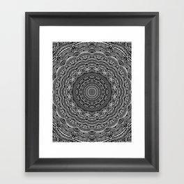 Zen Black and white mandala Sophisticated ornament Framed Art Print