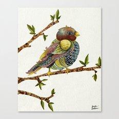 Positivity Bird Canvas Print