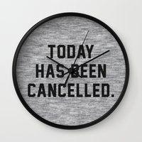 xbox Wall Clocks featuring Today has been Cancelled by Text Guy