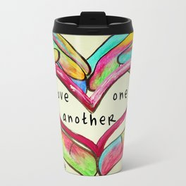 Love One Another John 13:34 Travel Mug