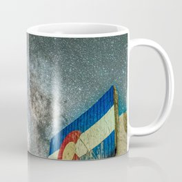Colorado Living // Milky Way Galaxy Long Exposure Photograph Incredible Starry Night and State Flag Coffee Mug