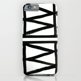 Brush and Ink II Mudcloth Pattern iPhone Case