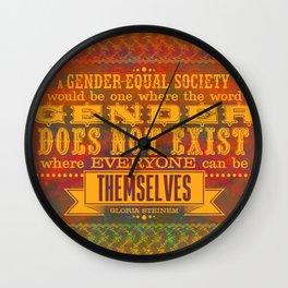 Gloria Steinem | Gender Equality - Leaves & Pumpkins Wall Clock