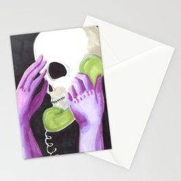phone skull Stationery Cards