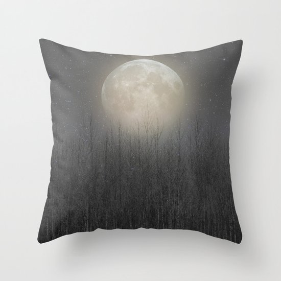 The Moon Shines Bright II Throw Pillow