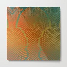 """Paradise Zebras Spines"" Metal Print"