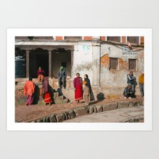 Bhaktapur Streets Art Print