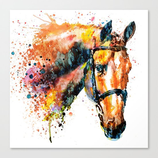 Colorful Horse Head Canvas Print