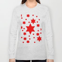 JULY 4TH  RED STARS DECORATIVE DESIGN Long Sleeve T-shirt