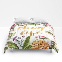 Thug Life - white version Comforters