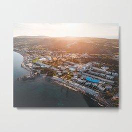 aerial photo of buildings Metal Print