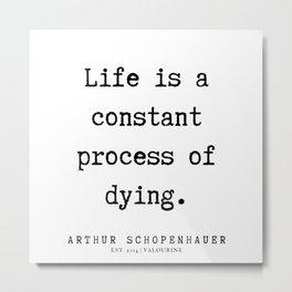 20      Arthur Schopenhauer Quote   191226 Metal Print