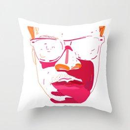 Zebra_Katz ANALOG zine Throw Pillow