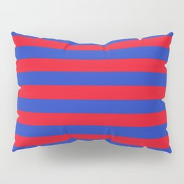 Blue and Red Stripes Pillow Sham