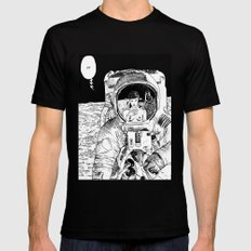 asc 333 - La rencontre rapprochée ( The close encounter) MEDIUM Black Mens Fitted Tee