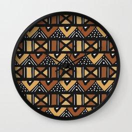 Mud cloth Mali Wall Clock