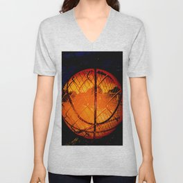 Basketball art swoosh vs 50 Unisex V-Neck