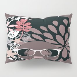 Afro Diva : Sophisticated Lady Pale Pink Peach Taupe Pillow Sham