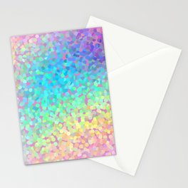 Pastel Rainbow Pointillized Design Stationery Cards
