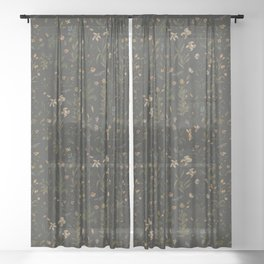 Old World Florals Sheer Curtain