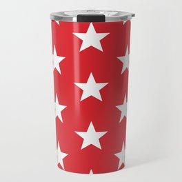 Superstars White on Red Large Travel Mug
