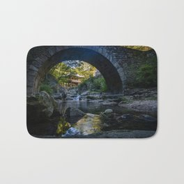Stone-Arched Bridge and Tower Bath Mat