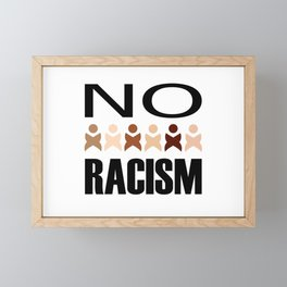 Say no to racism- anti racism graphic Framed Mini Art Print