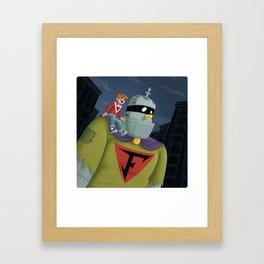 Buzz and Frankenstein Jr. Framed Art Print