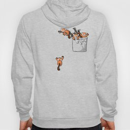 Pocket Red Panda Bears Hoody