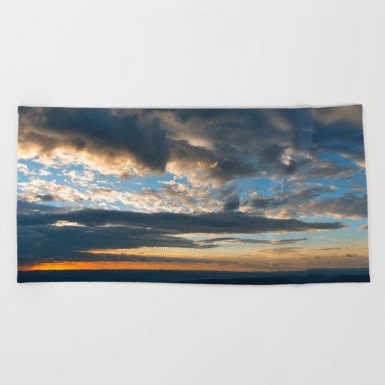 Vibrant Sunrise Cloudscape Beach Towel