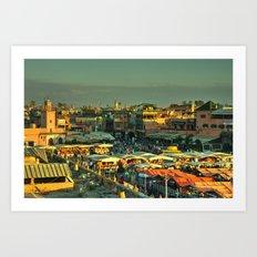 The marketplace of Marrakesh Art Print